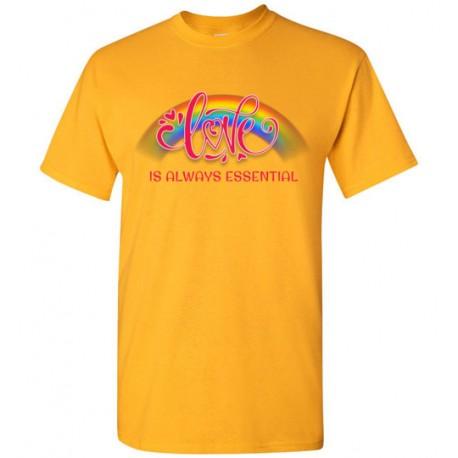 Love is Always Essential Pink Font Men's T-Shirt