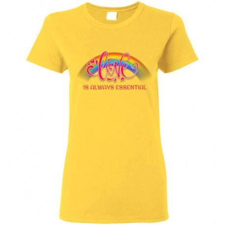 Love is Always Essential Pink Font Women's T-Shirt