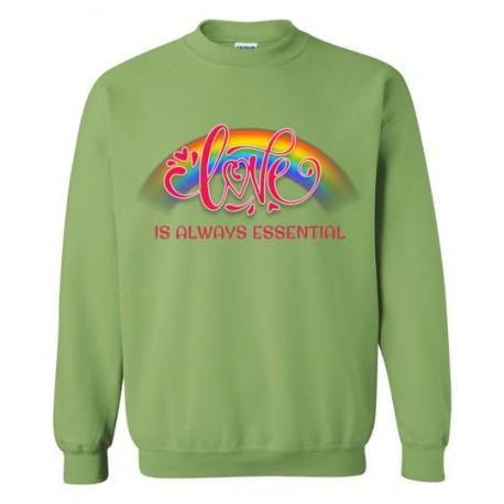 Love is Always Essential Pink Font Sweatshirt
