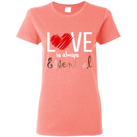 Scribble Heart Essential Women's T-Shirt