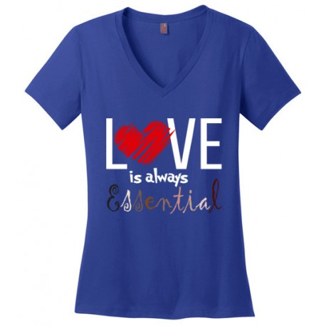 Scribble Heart Essential Women's V-Neck T-Shirt