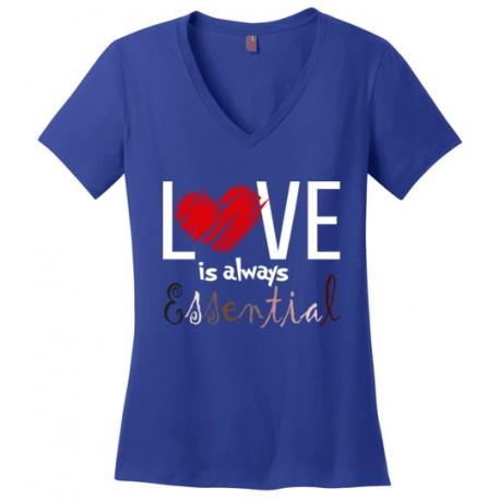 Scribble Heart Essential Women's V-Neck T-Shirt