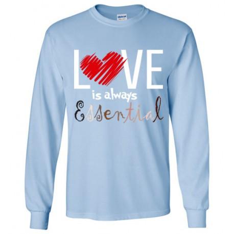 Scribble Heart Essential Long-Sleeved Shirt