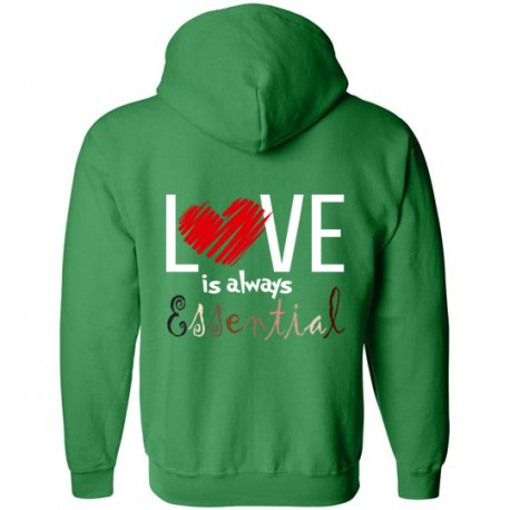*Logo on Back* Scribble Heart Essential Zip-Up Hoodie
