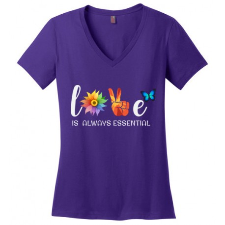Butterfly Essential Women's V-Neck T-Shirt