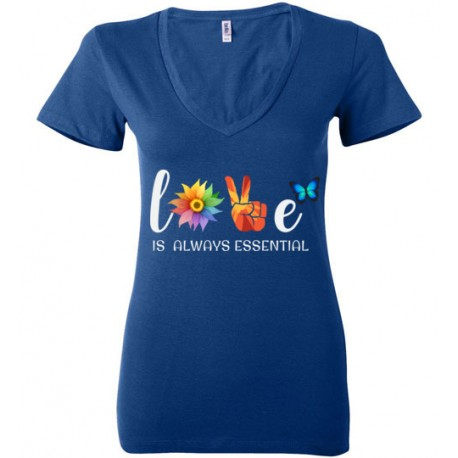 Butterfly Essential Women's Deep V-Neck T-Shirt