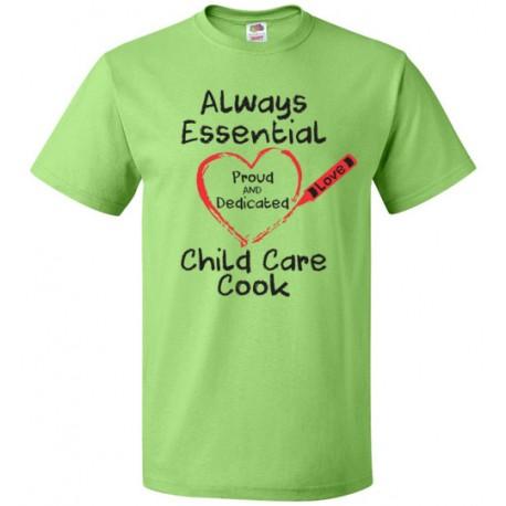 Crayon Heart Big Black Font Child Care Cook Unisex T-Shirt