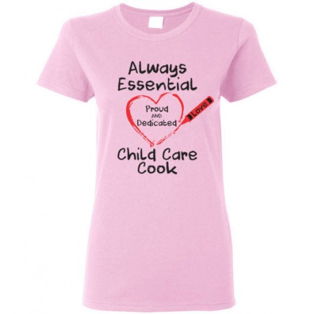 Crayon Heart Big Black Font Child Care Cook Women's T-Shirt