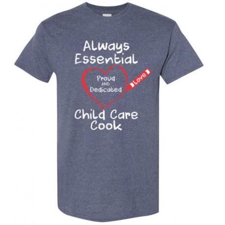 Crayon Heart Big White Font Child Care Cook Men's T-Shirt