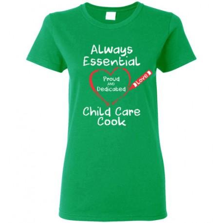 Crayon Heart Big White Font Child Care Cook Women's T-Shirt
