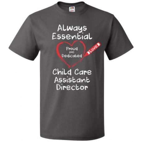 Crayon Heart Big White Font Child Care Assistant Director Unisex T-Shirt