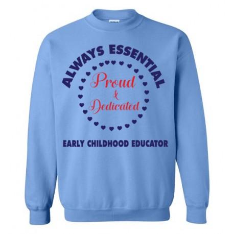 Circle of Hearts Dark Blue font Sweatshirt
