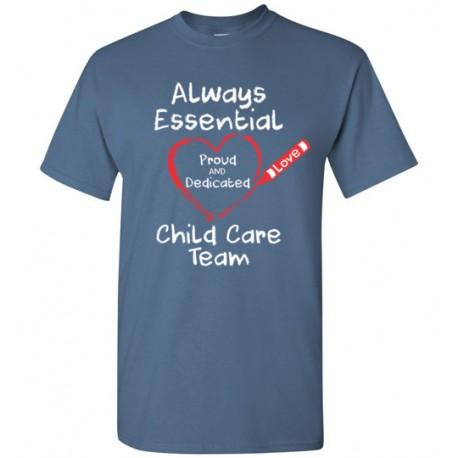 Crayon Heart Big White Font Child Care Team Men's T-Shirt