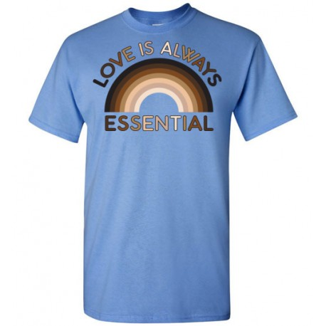 Love is Always Essential Skin-Tone Rainbow Men's T-Shirt