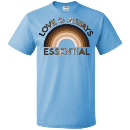 Love is Always Essential Skin-Tone Rainbow Unisex T-Shirt