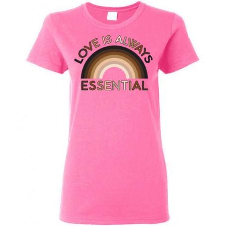Love is Always Essential Skin-Tone Rainbow Women's T-Shirt