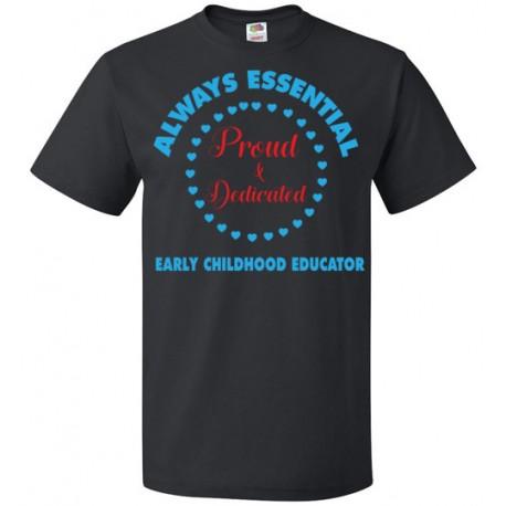 Circle of Hearts Light Blue font Unisex T-Shirt