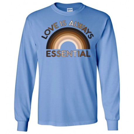 Love is Always Essential Skin-Tone Rainbow Unisex Long-Sleeved Shirt