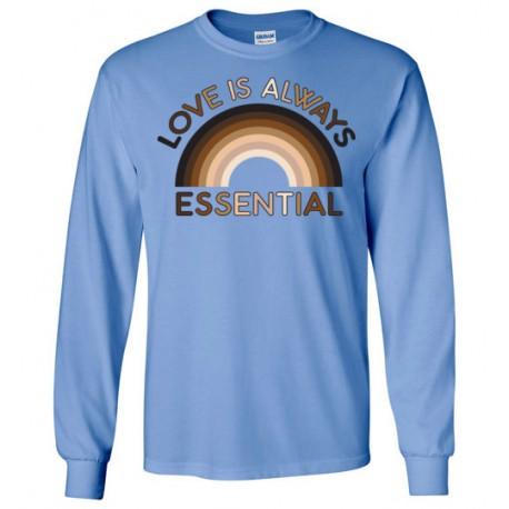 Love is Always Essential Skin-Tone Rainbow Unisex Long-Sleeved Shirt