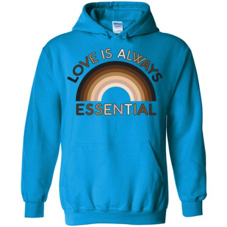 Love is Always Essential Skin-Tone Rainbow Unisex Hoodie