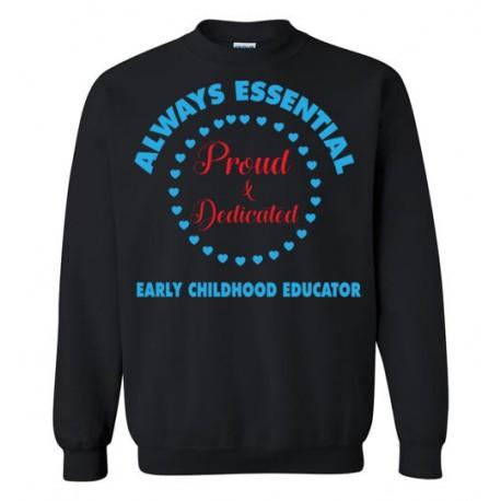 Circle of Hearts Light Blue font Sweatshirt