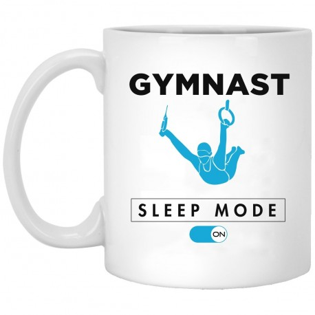 Gymnast Sleep Mode  11 oz. White Mug