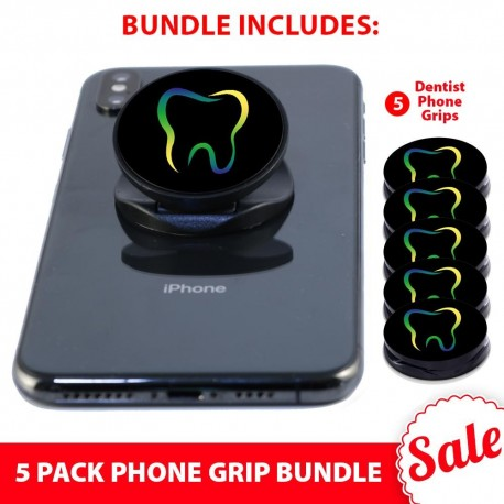 5 PK Phone Grip Bundle  Includes 5 Dentist Phone Grips