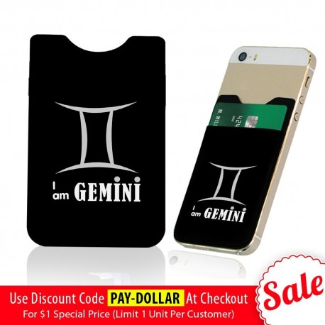 I Am Gemini  Phone Card Holder