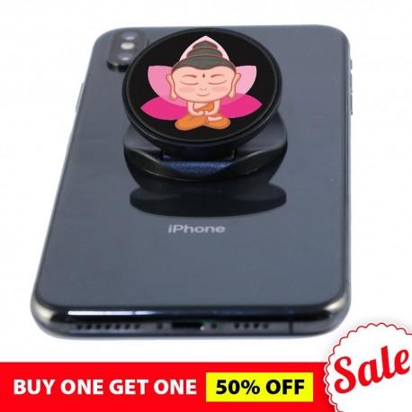 Little Pink Lotus  Buddha Phone Grip