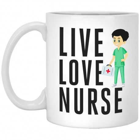 Live Love Nurse  11 oz. White Mug
