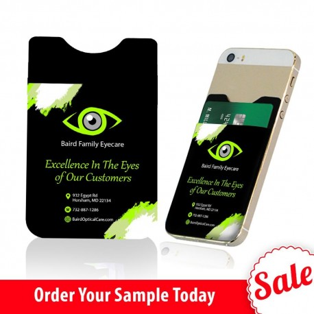Perfect Eye Care Practice Giveaway  Sample Phone Card Holder