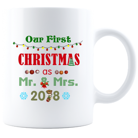 Remember First Christmas Mug  Stylish Mr & Mrs Forever