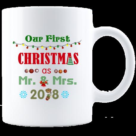 Remember First Christmas Mug  Stylish Mr & Mrs Forever