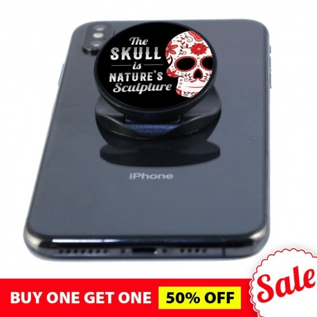 The Skull is Nature's Sculpture  Phone Grip