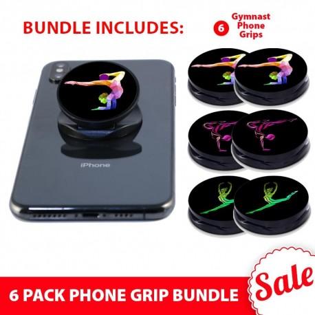 6 PK Phone Grip Bundle  Includes 6 Gymnast Phone Grips