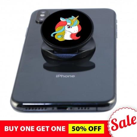 Unicorn Black  Phone Grip