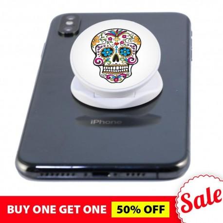 White Skull  Phone Grip