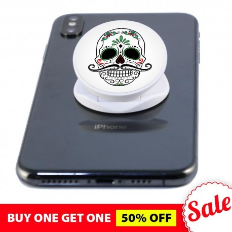 White Skull  Phone Grip