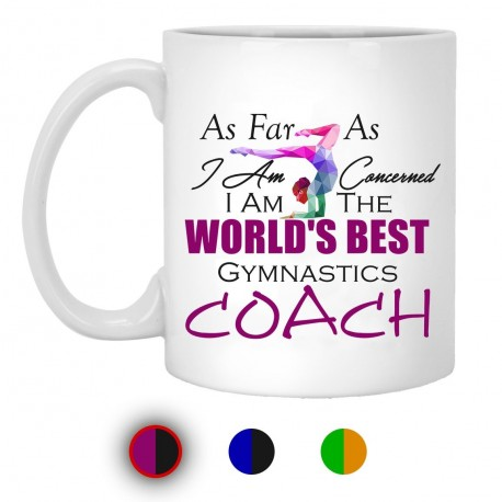 Worlds Best Gymnastic Coach  11 oz. White Mug