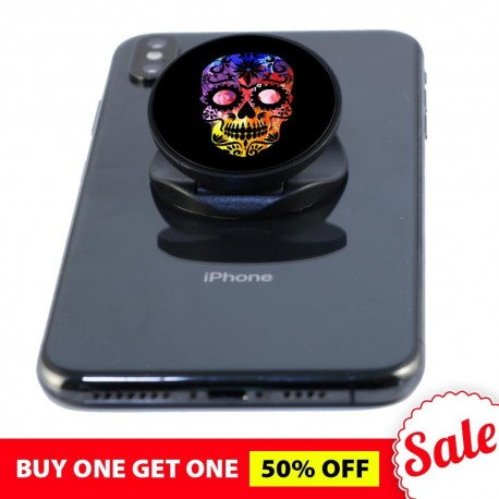 Black Skull  Phone Grip