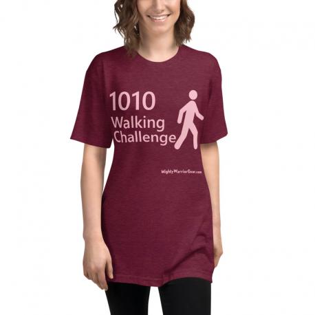 Official 1010 Walking Challenge on a Unisex Tri-Blend Track Shirt