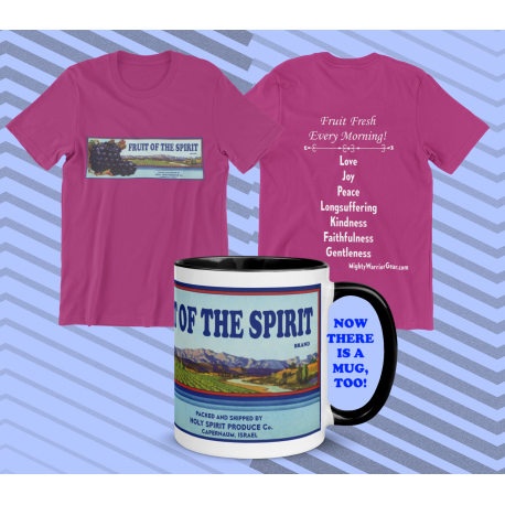 Fruit of the Spirit from Holy Spirit Produce Co. with list of Fruit on the Back