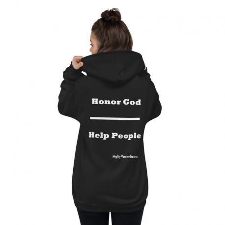 Honor God /Help People Zip Hoodie