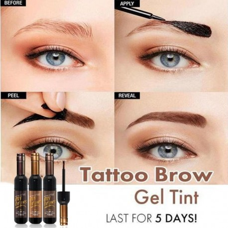 THB Red Wine Tattoo Brow Tint Gel for Long Lasting Glam Effect