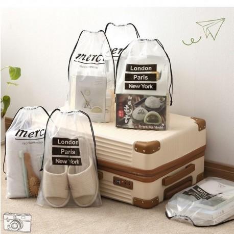 Transparent Travel Cosmetic Bag Women Drawstring Makeup Case Bath Organizer Toiletry Wash Beauty Kit Storage Pouch Make Up Box
