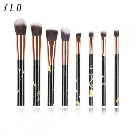 THB 10 Pcs 8 Pcs professional makeup brush Set tools Powder Foundation Eyeshadow Lip Eyeliner Blush Marble Make Up Brushes Kit
