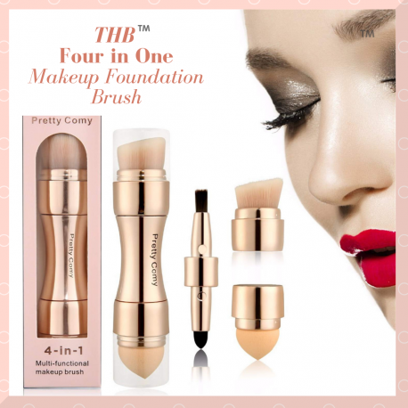 4 in 1 Multifunctional Makeup Brush Set | Saving you time and space compared to carrying bulky makeup brushes.