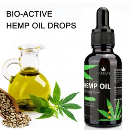 30ml 100% Organic Hemp Oil Bio-active Hemp Seeds Oil Extract Drop for Pain Relief Reduce Anxiety Better Sleep Essential Oil
