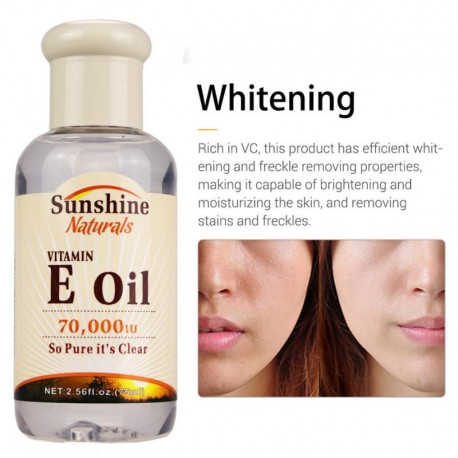 Sunshine 75 Ml Natural Vitamin E Pure Jojoba Oil Organic Anti Aging Morning And Night Essential Oil Anti Wrinkles Serum TSLM1