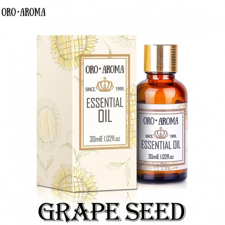 Famous brand oroaroma natural aromatherapy grape seed oil Dilute the stain antioxidant Reduce wrinkles anti aging